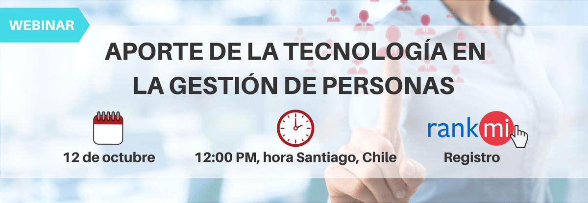 Webinar: Aporte de la Tecnología en la gestión de Personas