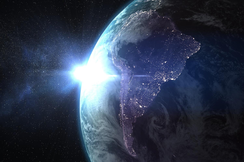 Imágen aérea de Latinoamérica conectado